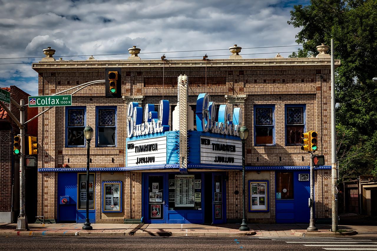Le cinéma d'une petite ville des États-Unis